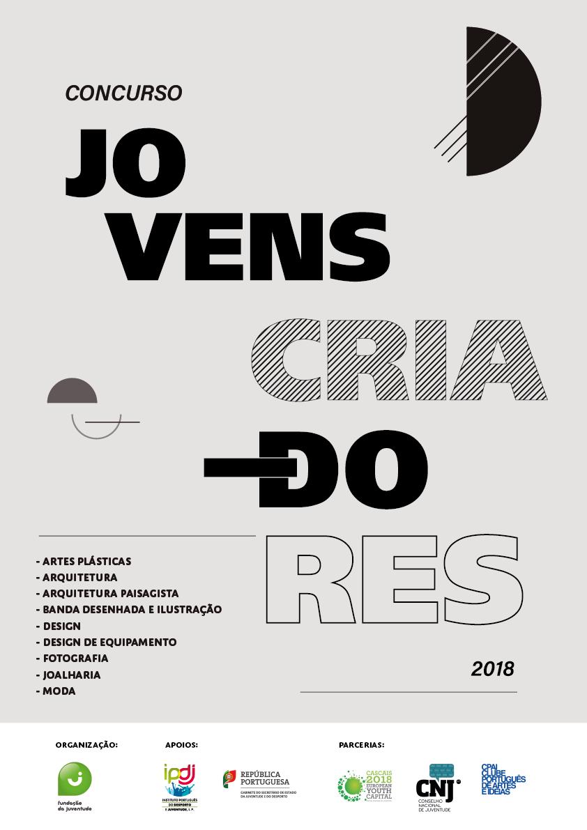 Cartaz concurso jovens criadores 2018